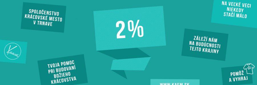 2 percentá pre naše spoločenstvo